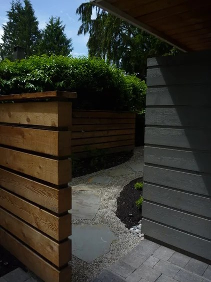 exterior contemporâneo por KMZ Landscape Design