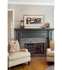 Painted Fireplace Mantels Add Pizzazz