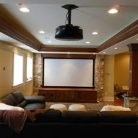 Philadelphia Tray Ceiling Basement Design Ideas, Pictures