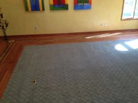 Flooring Wood Border with Carpet Inlay