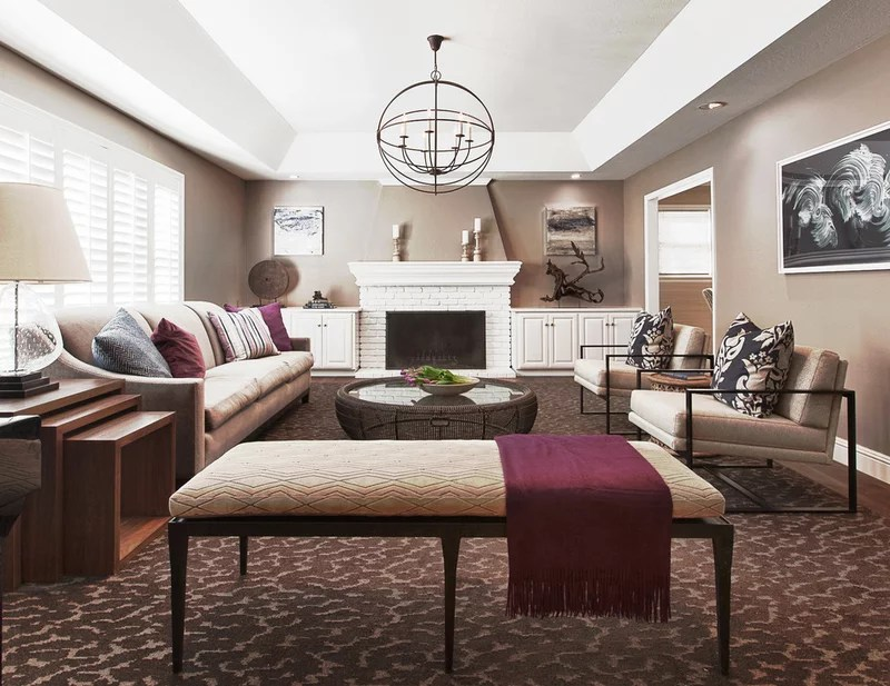 contemporary living room by Kriste Michelini Interiors