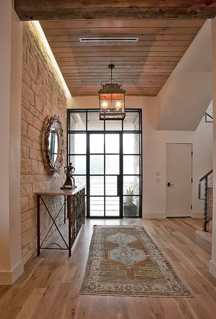 modern entry by Cornerstone Architects