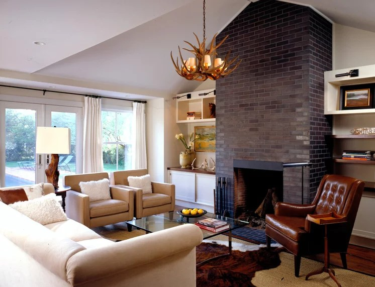 Farmhouse Family Room by Paul Rice Architecture