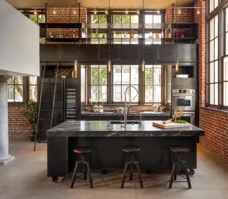 Industrial Kitchen by Muratore Construction + Design