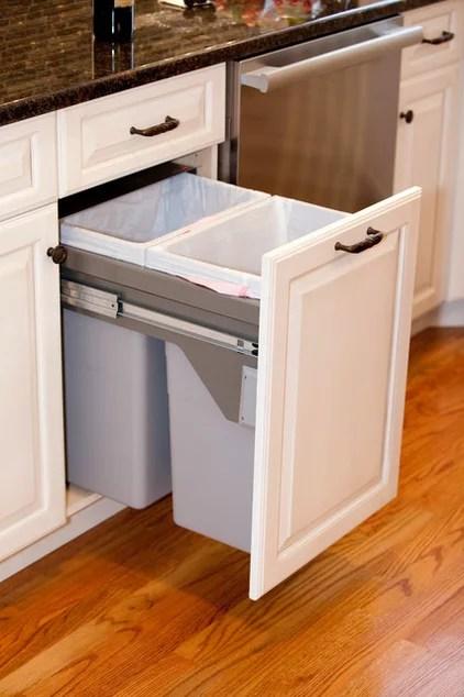 Traditional Kitchen Trash Cans Kitchens Design Inc