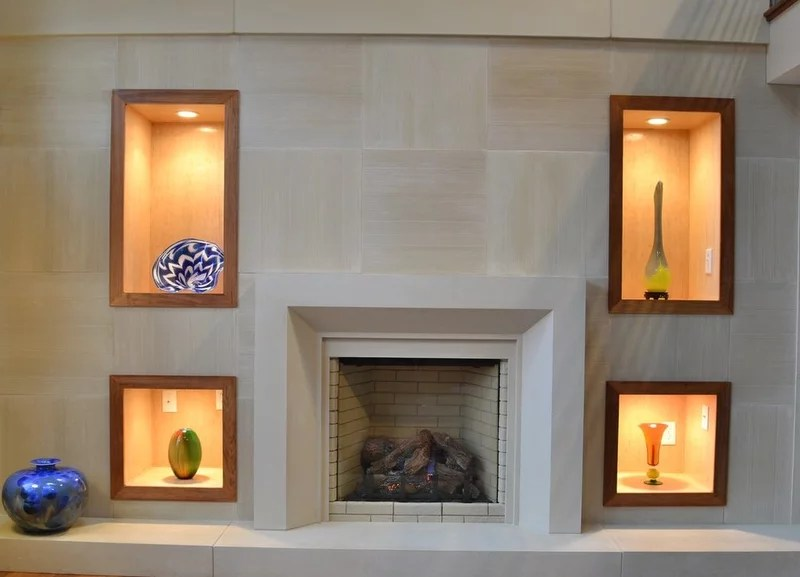 traditional living room by Distinctive Mantel Designs, Inc