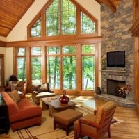 Rustic Cathedral Ceiling Living Room Design Ideas ...