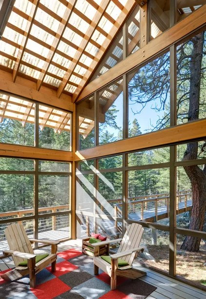 modern porch by Balance Associates Architects