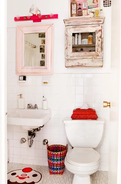 eclectic powder room by Rikki Snyder