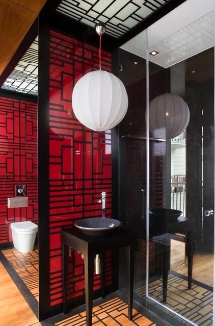 Asian Bathroom by EXIT Interior Design Studio