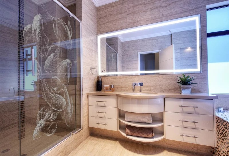 Asian Bathroom by Clearlight Designs
