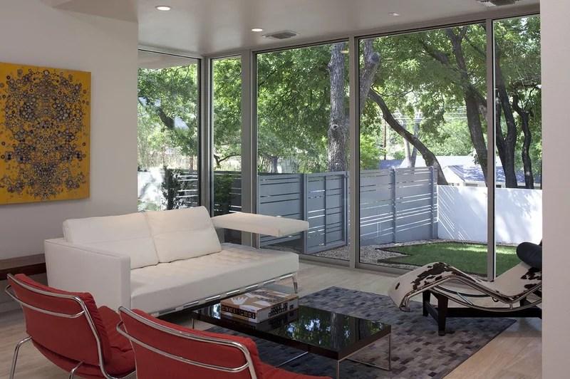 modern living room by Hugh Jefferson Randolph Architects
