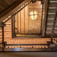 Rustic St Louis Open Staircase Staircase Design Ideas ...
