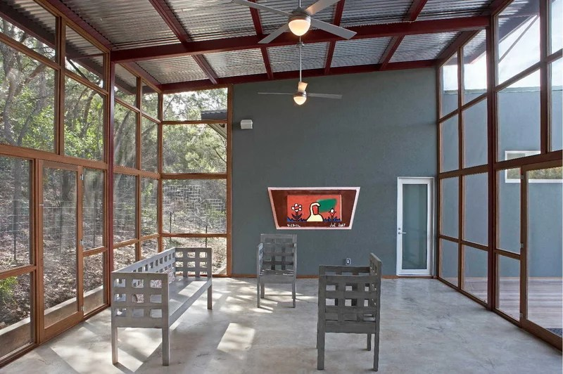modern porch by Steinbomer, Bramwell & Vrazel Architects