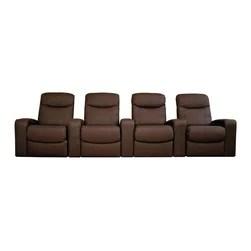 leatherette sofa durability foam online india baxton studio - cannes home theater seats (4 ...