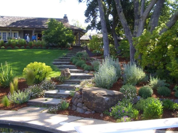 sloped front yard landscaping