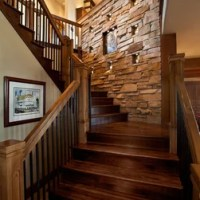 Rustic Salt Lake City Open Staircase Staircase Design ...