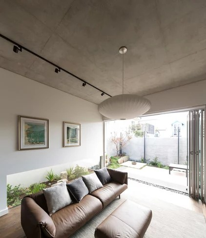 Contemporary Living Room by Sam Crawford Architects