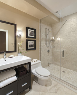 Port Credit Townhome contemporary bathroom