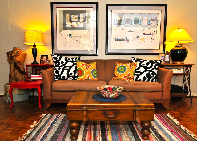 Sarah Greenman eclectic living room