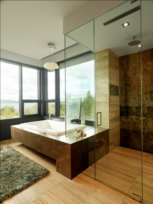 modern bathroom by Birdseye Design