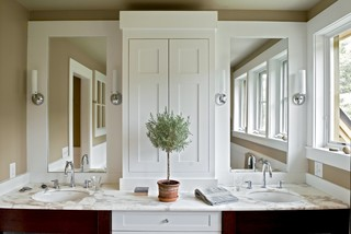 Vanity Towers Take Bathroom Storage To New Heights Drummond House Plans Blog