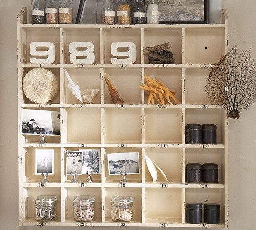 Cubby Organizer - Weathered White eclectic bookcases cabinets and computer armoires