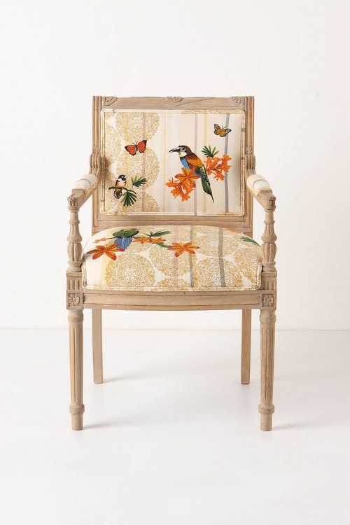 Tropical Flock Chair eclectic dining chairs and benches