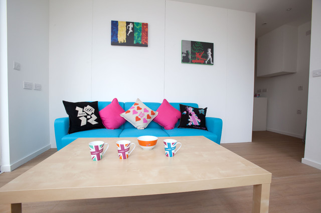 contemporary living room Olympic Village Athletes' Apartment