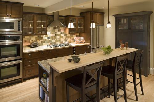 Transitional Craftsman Kitchen traditional kitchen