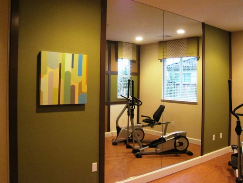 What s the best color for a workout room color calling for Home gym interior design