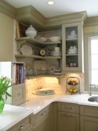 Help with kitchen corner open shelves
