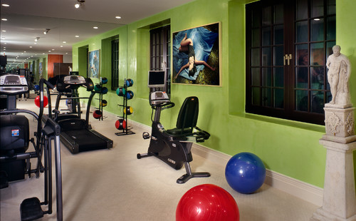 What s the best color for a workout room color calling for Modern home gym
