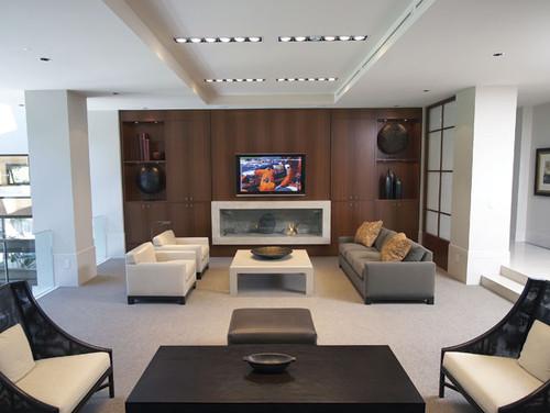 Custom Home Cinema contemporary media room
