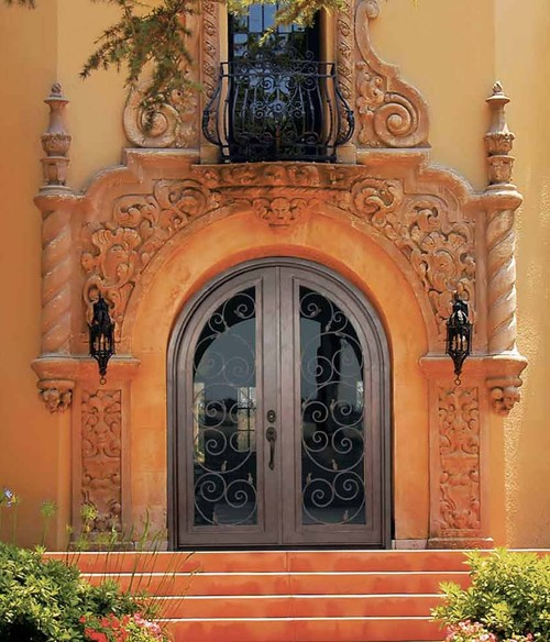 Mediterranean Style Entry Doors: Trying To Balance The Madness
