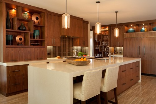 contemporary kitchen by M2 Interior Design, Inc.