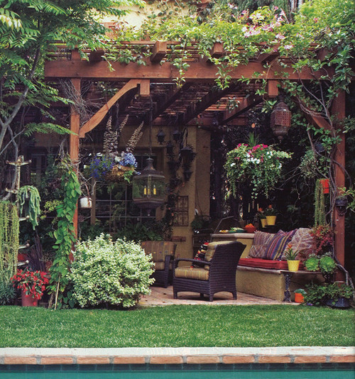 beverly hills peck - mediterranean patio