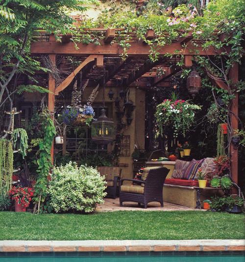 beverly hills peck - mediterranean patio