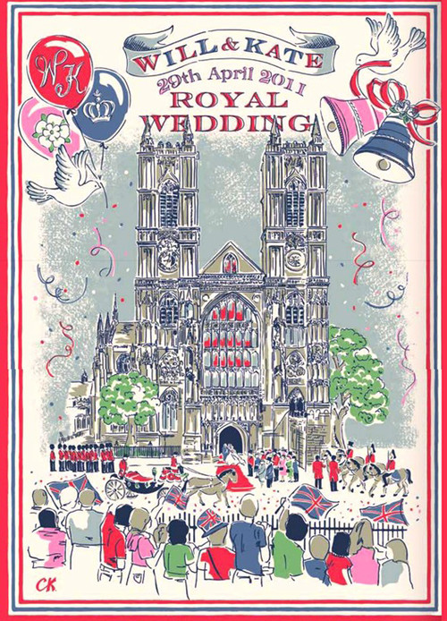 Cath Kidston Royal Wedding Souvenir Tea Towel traditional dishtowels