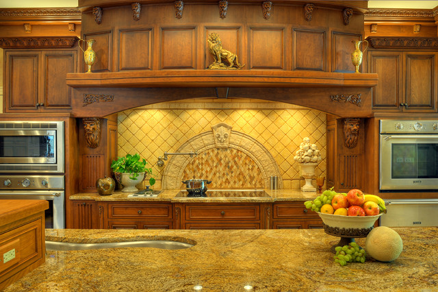 mediterranean kitchen by Cabinet Studio, Inc.