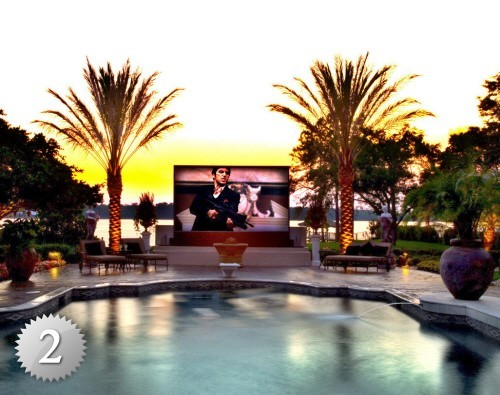 Outdoor Home Theaters  media room