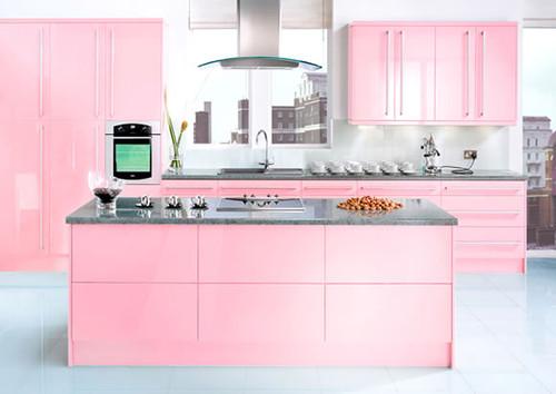 neopolitan-pink-kitchen contemporary kitchen