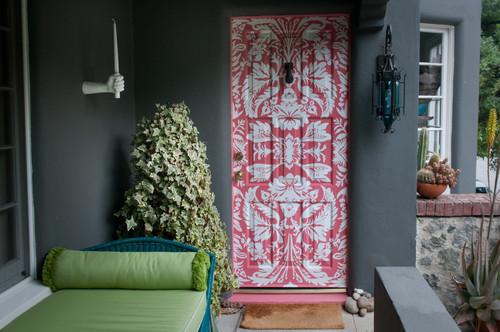 The Front Door eclectic entry