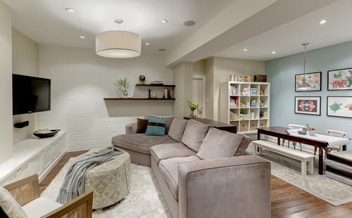 Basement Family Room modern family room