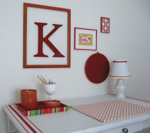 Vintage embroidery hoop wall decor