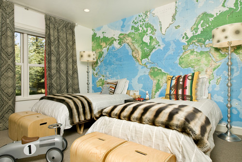 Pottery barn designbylulu paper baby home plus youre kind of setting your child up to be a world traveler if you hang a map above their crib right gumiabroncs Gallery