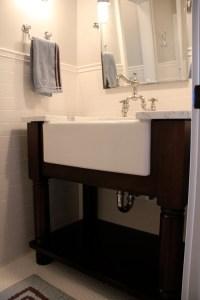 The Granite Gurus: FAQ Friday: Farmhouse Sink in the Bathroom?