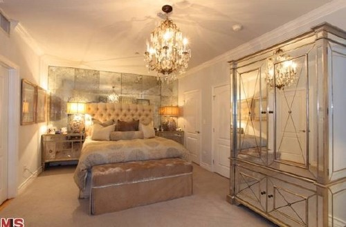 Designer Bedrooms  Kim Kardashian s champagne colored Old Hollywood Glam  bedroom. Ultra Glam Interiors  Kim Kardashian s Bedroom   more    Design