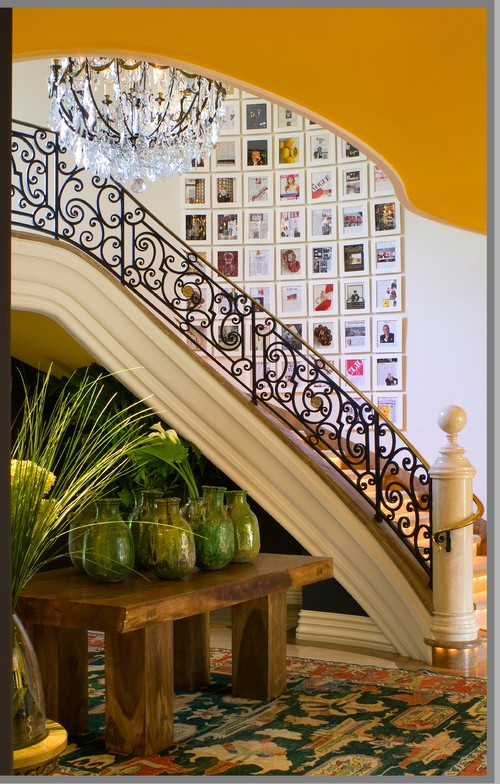 Bold dramatic statements eclectic staircase