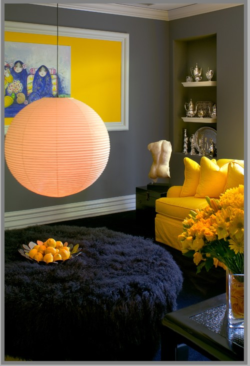 Bold dramatic statements eclectic family room